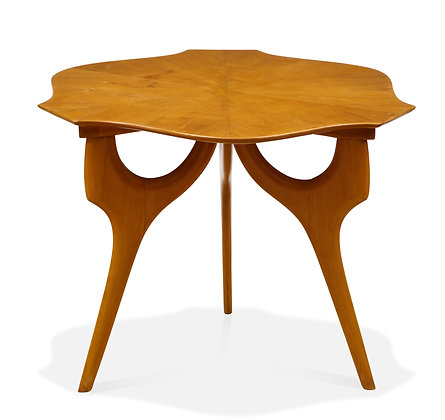 (#1369) Unusual Fruit Wood End Table, Attrib: Ico Parisi