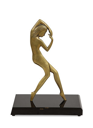(#1592) Bronze Art Deco Nude, Attributed to Emory Plus Seidel