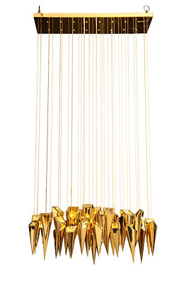 "(#1558) The ""Audacia'"" Chandelier by Kelly Kiefer"