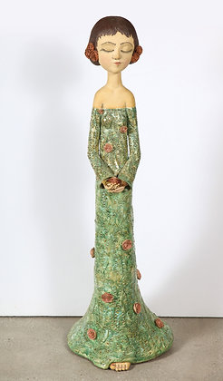 (#1705) Sculpted Ceramic Girl