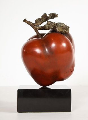 (#2087) Bronze Apple by Clara Duque