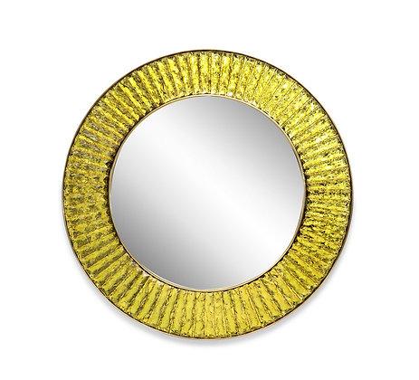 (#1277) Studio-Built Circular Mirror by Ghiró Studio.Italy