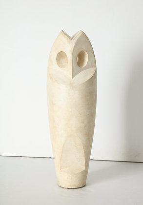 (#1626) Cast Stone Owl, by Constantin Antonovici