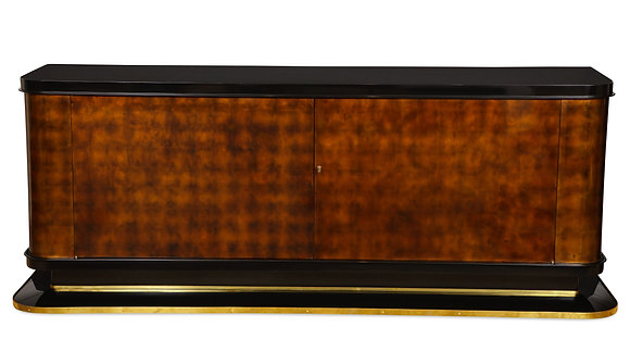 (#1275) An Art Deco Lacquered Cabinet, by Jules Leleu and probably