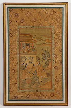 (#1996) Chinese Silk Woven Panel