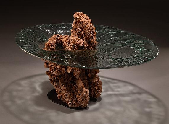 "(#2042) ""Impact"" Table of Desert Rose Gypsum Base by Studio Greytak"