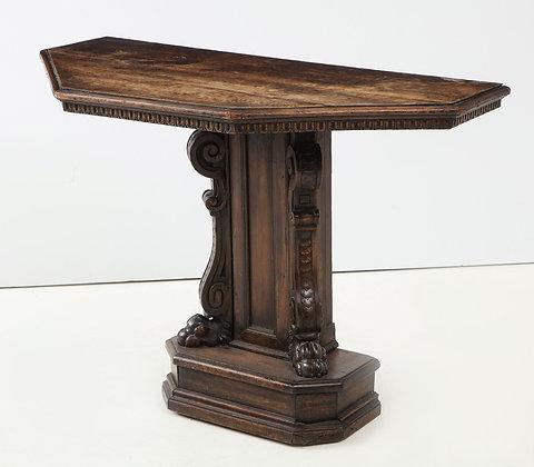 (#2023) Renaissance Revival Walnut Console Table