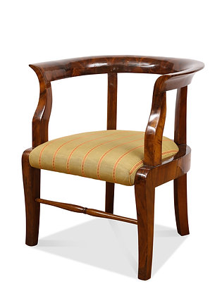 (#1547) A Fine Walnut Biedermeier Child's Chair