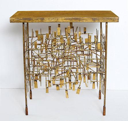 (#1138) A Unique Gilt Metal Console Table, by William Bowie