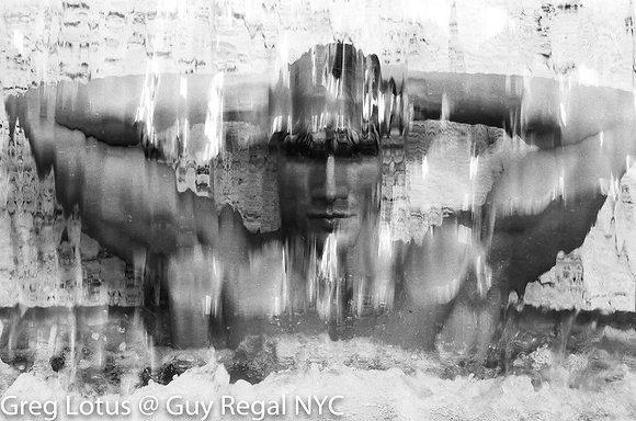 (#1606) BEHIND THE WATERFALL by Greg Lotus