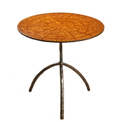 (#1890) Contemporary Resin and Bronze Table