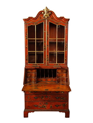 (#1894) An English Red Lacquer Secretary