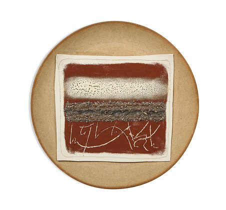 (#1595) Ceramic Charger, Signed Bruno Gambone