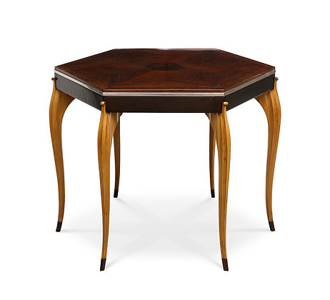 (#1209) A Superb American Art Deco Hexagonal Table