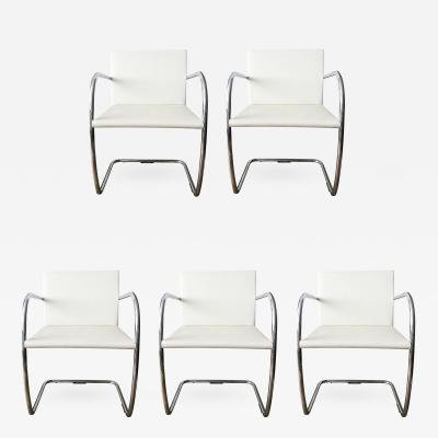 (#1249) Mies Van Der Rohe for Knoll Tubular Brno Chairs x 5