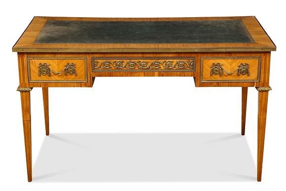 (#1499) Louis XVI Style Bureau Plat