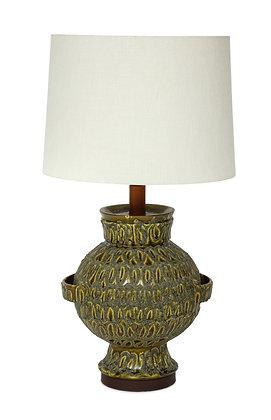 (#1371) Large Green Ceramic Lamp
