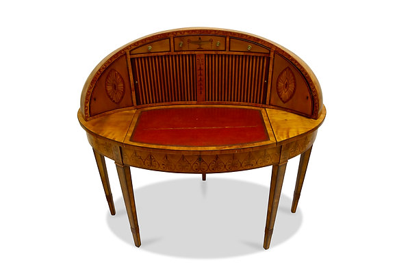 (#1451) A Fine and Unique Satinwood Georgian Writing Table
