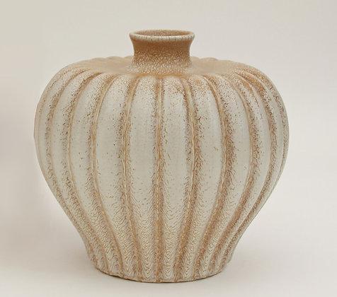 (#1095) Bo Fajans Pottery Vase Designed by Evald Dahlskog