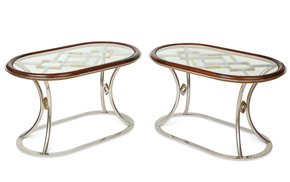 (#1137) Pair of Side Tables Designed by Alain Delon for Maison Jansen.