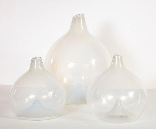 (#2101) Set of 3 Glass Vases by J. Parker