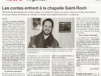 Portrait dans Ouest-France : Contes des pèlerins amoureux à Argentan