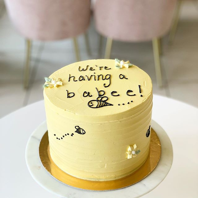 A delicate and simple cake for a friend!