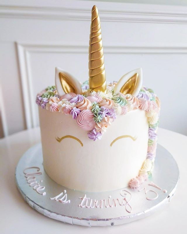 Pastel Unicorn Cake made for one of the