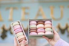 Our 6pc and 12pc macaron boxes are one o