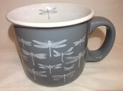 Gray Dragonfly Mug