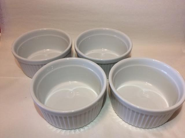Set of 4 White Ramekins