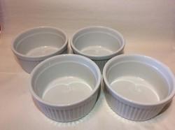 Set of 4 White Ramekins