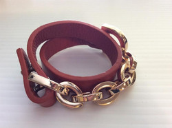 Rust Leather Wrap