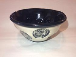 Black & White Wheel Bowl
