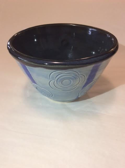 Blue Floral Stem Bowl