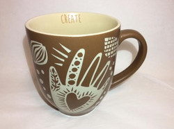 Matte Brown Hand Mug