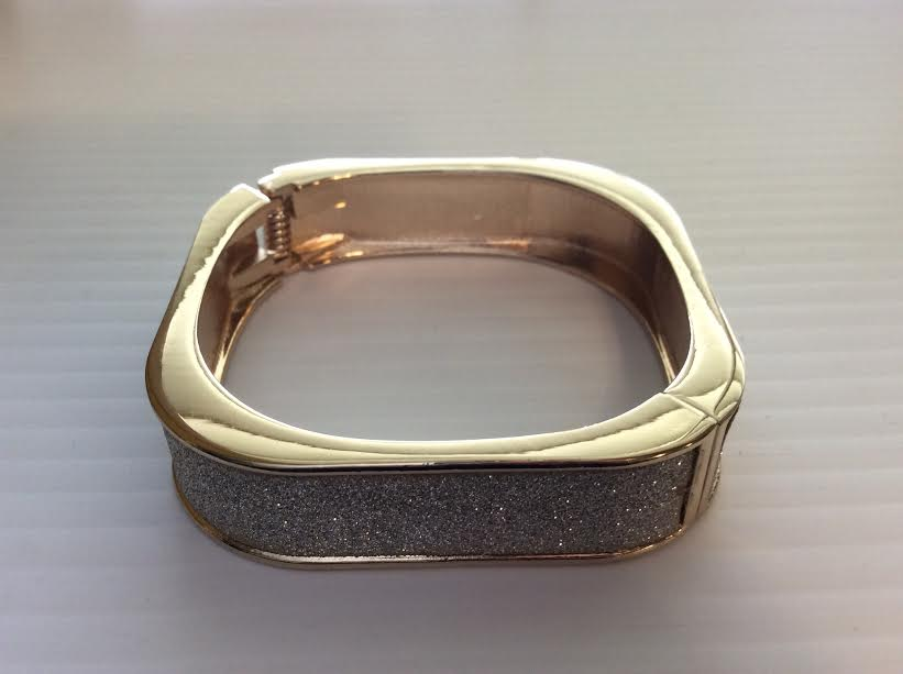 White Sparkle Square Bangle