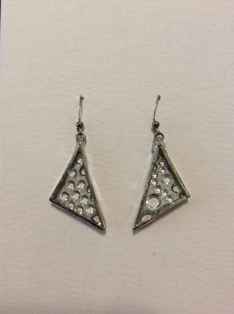 GLASS BUBBLE TRIANGLE EARRINGS