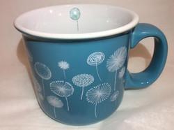 Teal Dandelion Mug