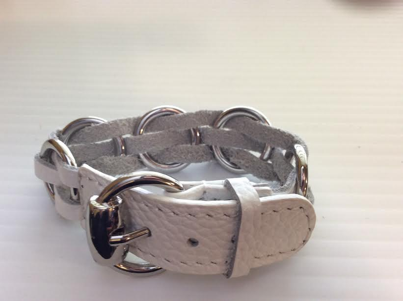 White Leather Buckle