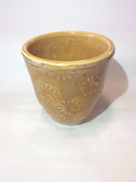 Yellow Floral Cup