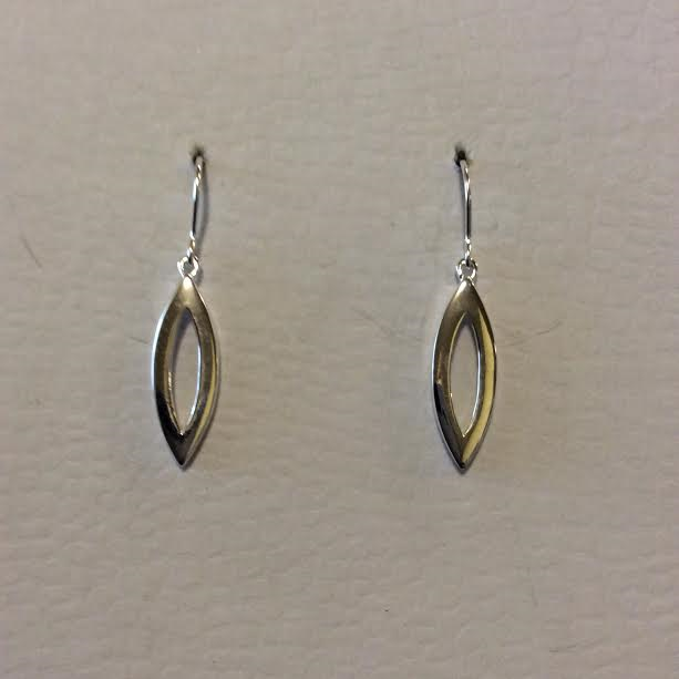 SILVER SLIT DROP EARRINGS