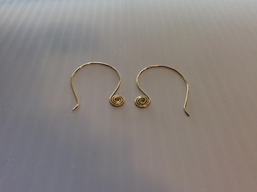 BRONZE WIRE EARRINGS