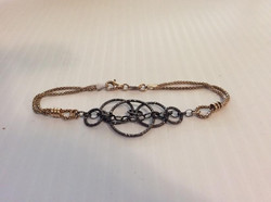 14KGP and Dark Gray Chain Bracelet