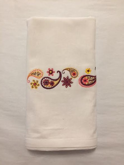 Paisley Embroidered Towel