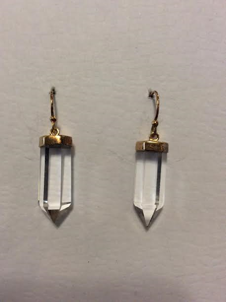 14KGP QUARTZ EARRINGS