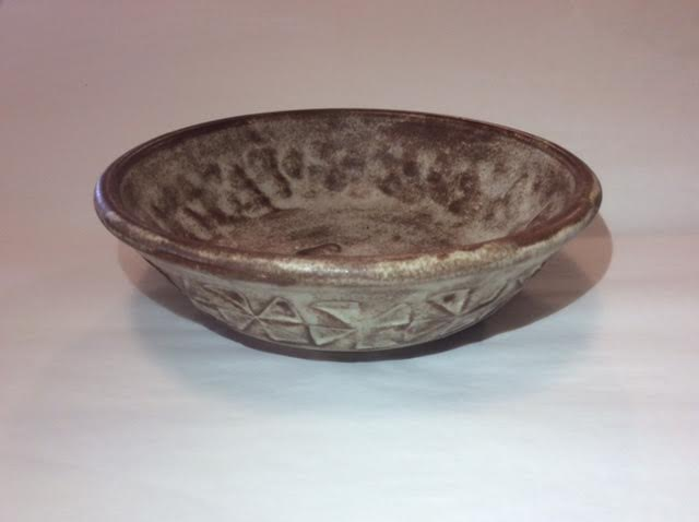 Brown Triangle Bowl