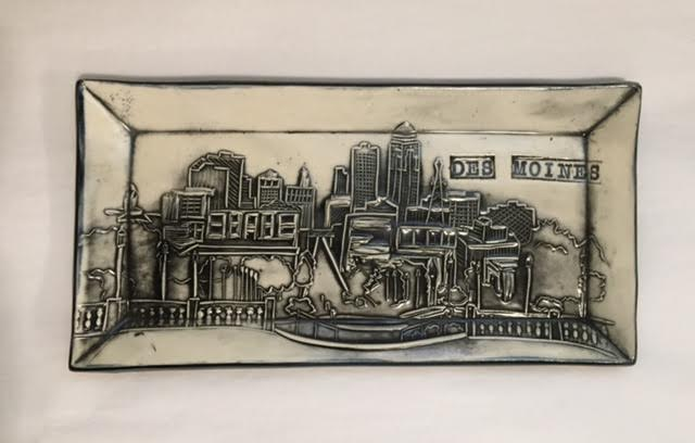 Des Moines Skyline Tray