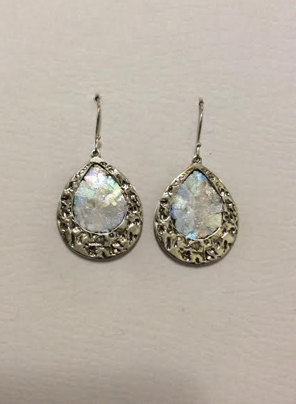 ROMAN GLASS TEARDROP EARRINGS