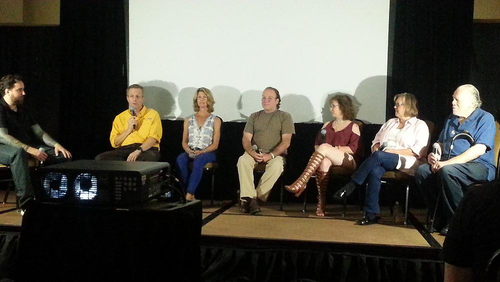 (From left) Brian Singleton, Brian Matthews, Leah Ayres, Larry Joshua, Shelley Bruce, Bonnie Deroski and Lou David